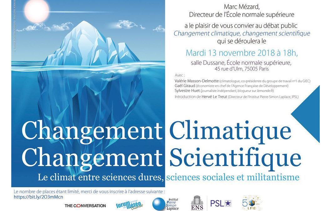 CHangement Climatique Changements Scientifiques
