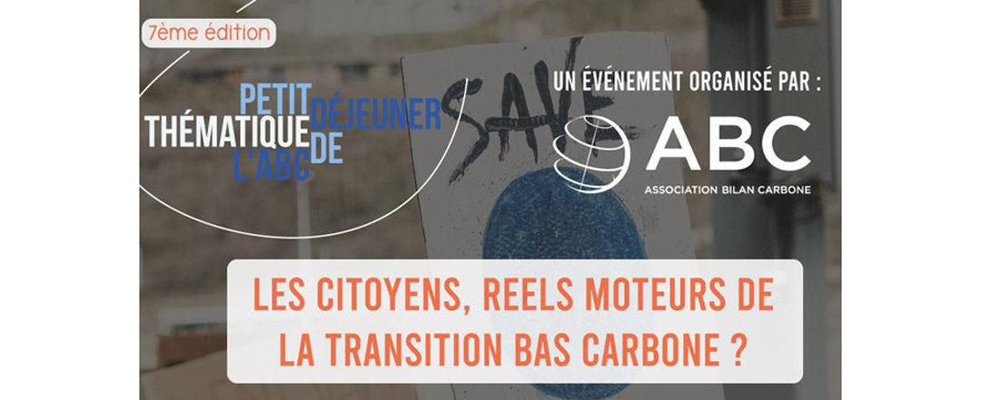 Les citoyens : réels moteurs de la transition bas carbone ?